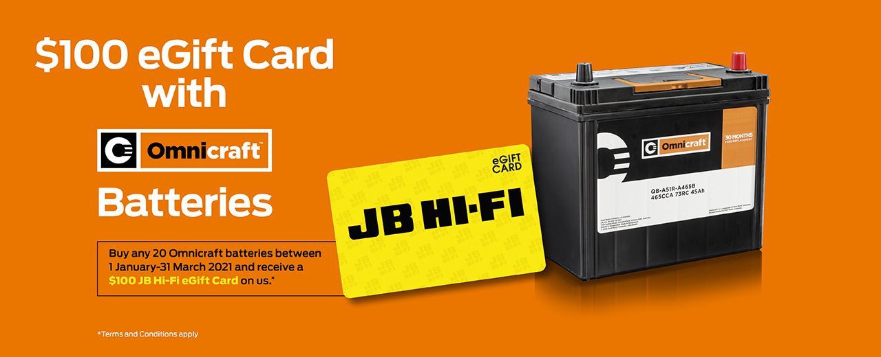 JB Hi Fi Omnicraft Batteries