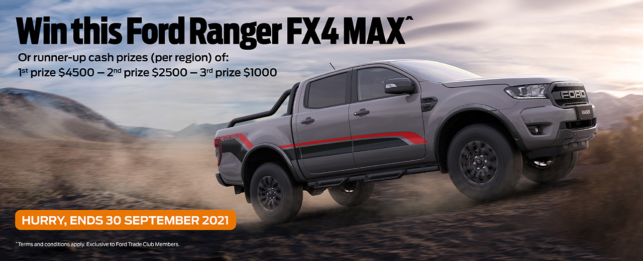 Win a Ford Ranger FX4 MAX